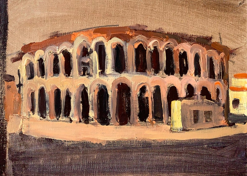 Verona Arena Italy Landscape Painting image 0