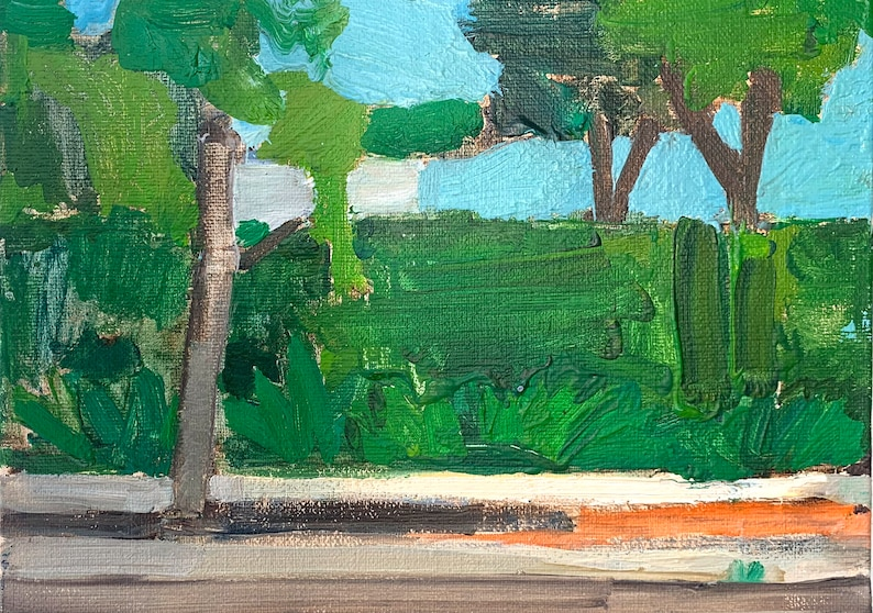 Bushes in Hillcrest  Painting of San Diego image 0