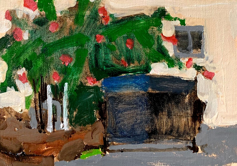 Dumpster and Bougainvillea San Diego Painting image 0