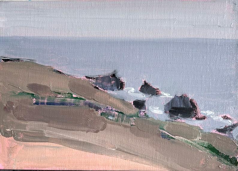 Sonoma California Landscape Painting California Coast Jenner image 1