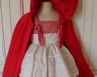 Little Red Riding Hood Boutique Costume Size 2T 3T 4T 5 6