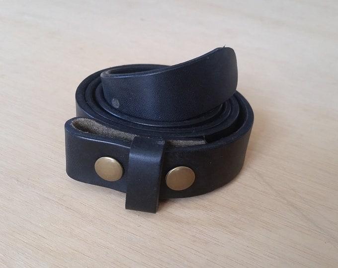 Black Leather Belt Straps