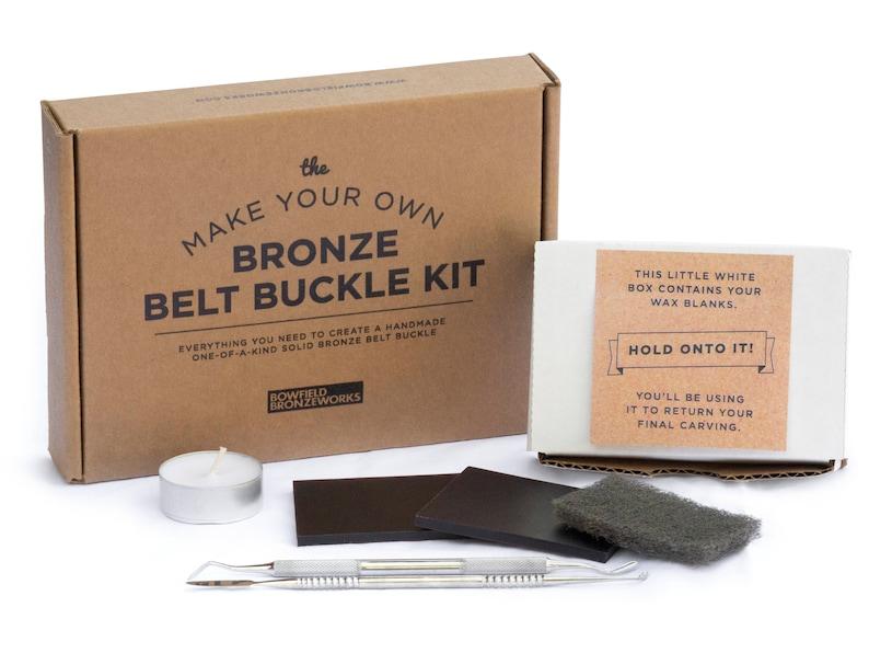 Make Your Own Bronze Belt Buckle Kit  You Sculpt We Cast  image 0