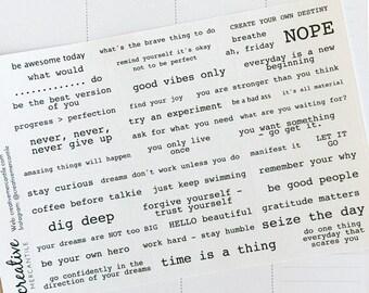 Planner Stickers - Inspire Words - Label set