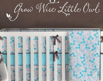 Grow Wise Little Owl 44x11 Vinyl Wall Lettering Words Quotes Decals Art Custom