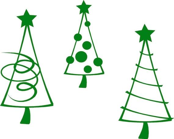 Items Similar To Christmas Tree Trio Holiday Vinyl