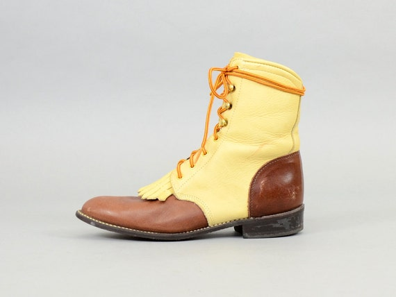 Leather Boots up 8 5 US Lace zwzqr6P