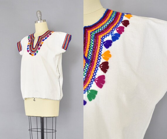 Embroidered Mexican Huipil