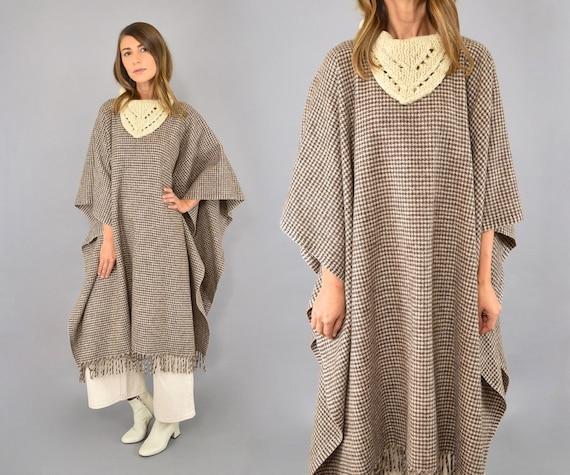 Minimalist Wool Poncho