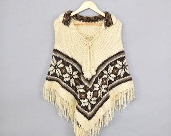 70's Knit Sweater Poncho