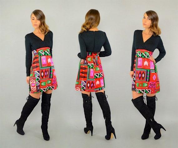 60's Southwestern Mod Dress - image 3