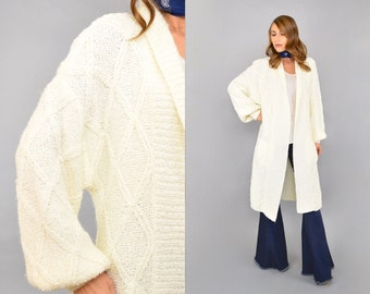 80's Knit Cardigan Duster