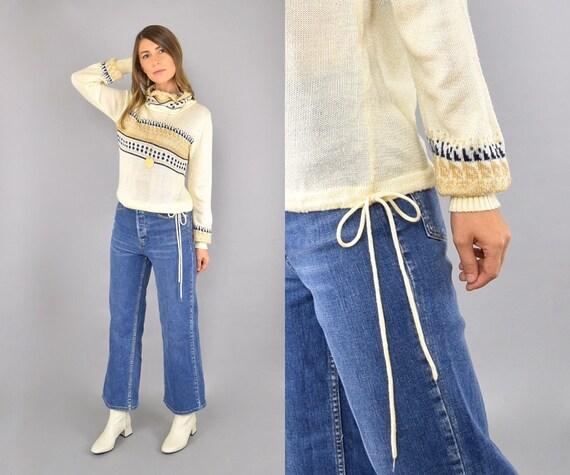 60's Tie Waist Sweater