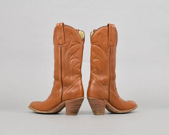 US en FRYE Cowboy de cuir bottes 5 7 nwxwP0qF