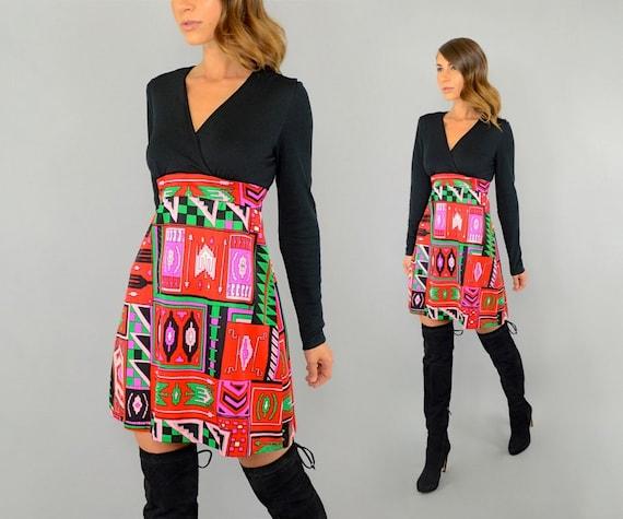60's Southwestern Mod Dress - image 4