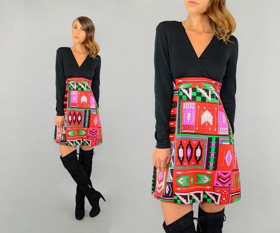 60's Southwestern Mod Dress - image 2
