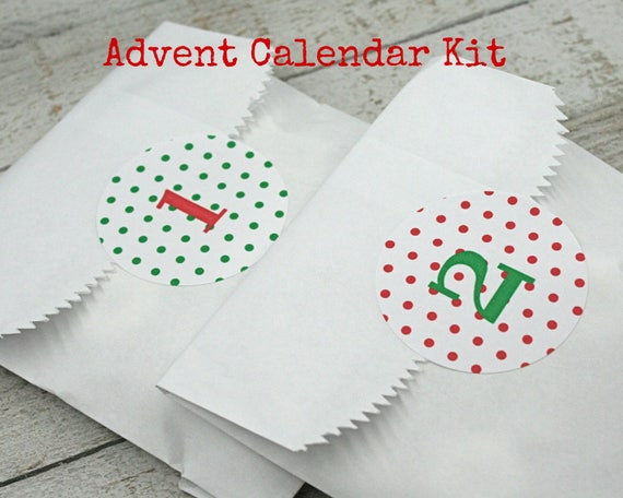 advent calendar kit christmas countdown stickers and favor. Black Bedroom Furniture Sets. Home Design Ideas