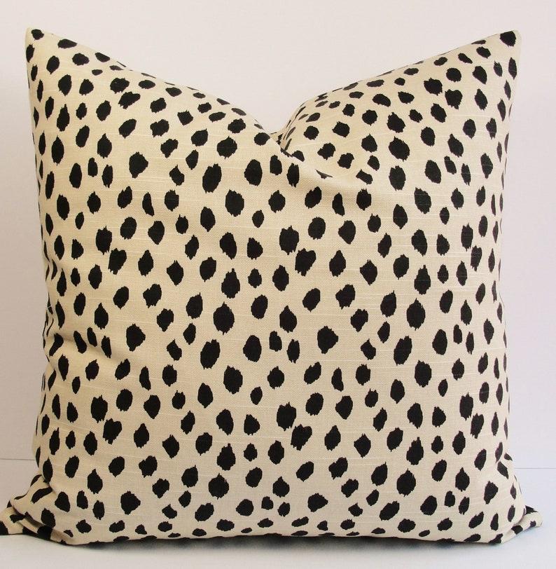 Sham cover.Sofa Pillows Dalmatian Animal print Pillow Cover Cotton.Select size