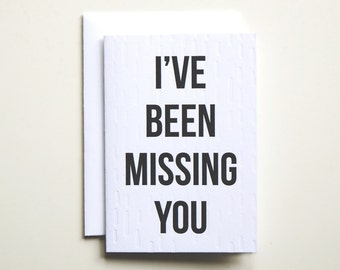 Missing You Letterpress Card