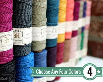 2ecd6e00f6c BULK DEAL - Choose Any 4 (Four) Solid Color Spools of 1mm Hemptique™ Brand  Hemp Twine - Eco-Friendly