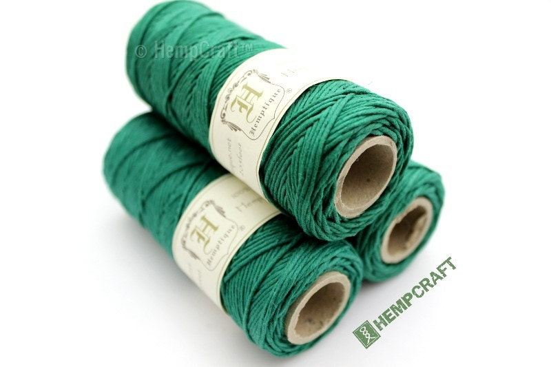 Hemp Twine Green High Quality 1mm Shamrock Green Colored ...