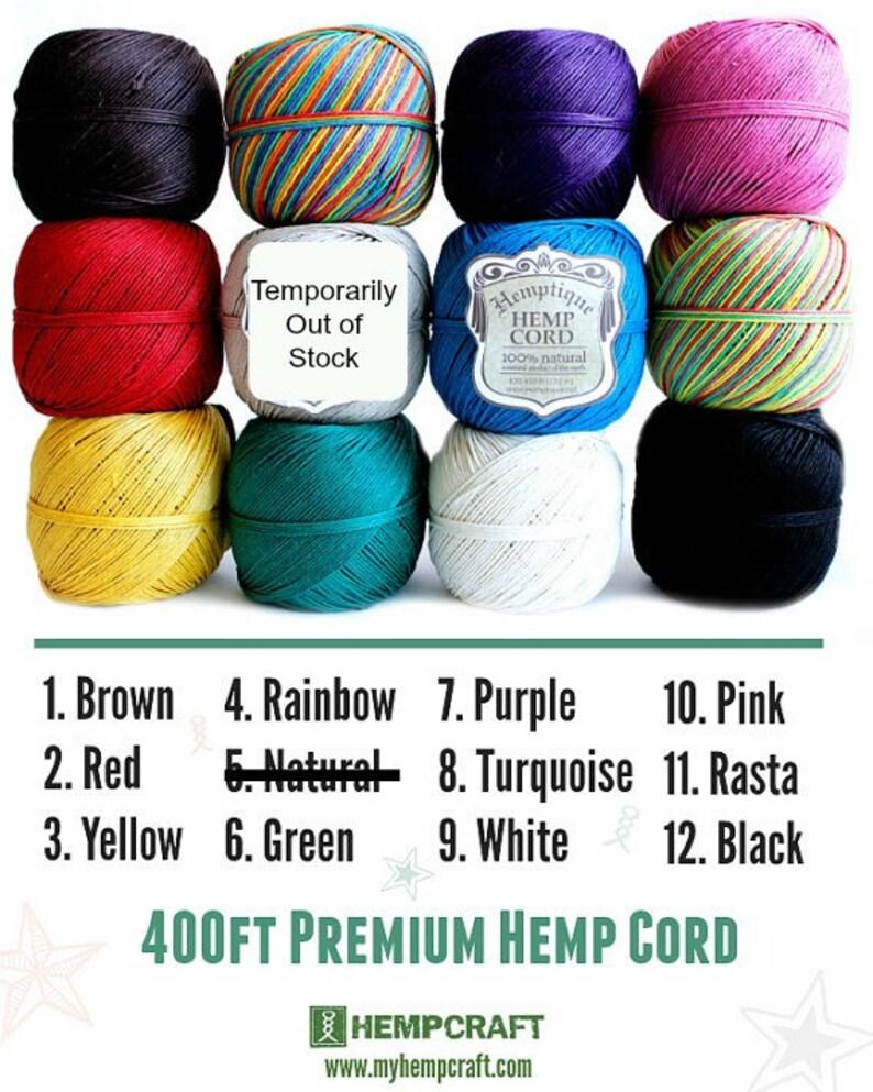 Choose Any 6 and Biodegradable! Colorfast BULK DEAL Eco-Friendly Six Solid Color Balls of 1mm Hemptique\u2122 Brand Hemp Twine