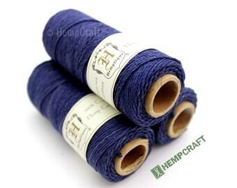 Hemp Twine, Blue - Midnight Blue High Quality 1mm Colored Hemp Cord