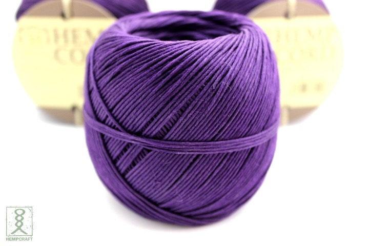 Purple Hemp Cord 400ft Hemp Twine Ball Colored Twine Craft ...