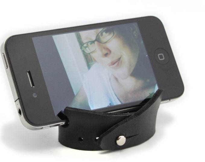 Smartphone Stand and Bracelet - Leather