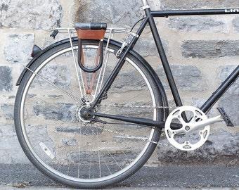 Bicycle U-Lock Holster - Leather