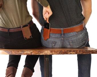 iPhone 5 / 5SE / 6 / 4 - Belt Holder - Leather