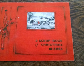 1936 Christmas card vintage scrapbook