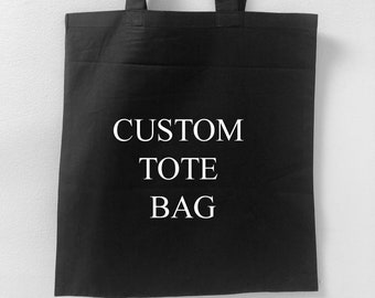 Customizable Tote bag- Sustainable Blank Bag, White or Black, Great for embroidery, Screen Printing and HTV - 100% Cotton
