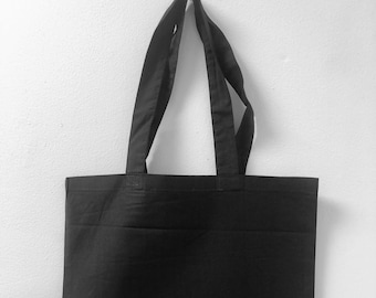 Plain Tote bag- Sustainable Blank Bag, White or Black, Great for embroidery, Screen Printing and HTV - 100% Cotton and Customizable