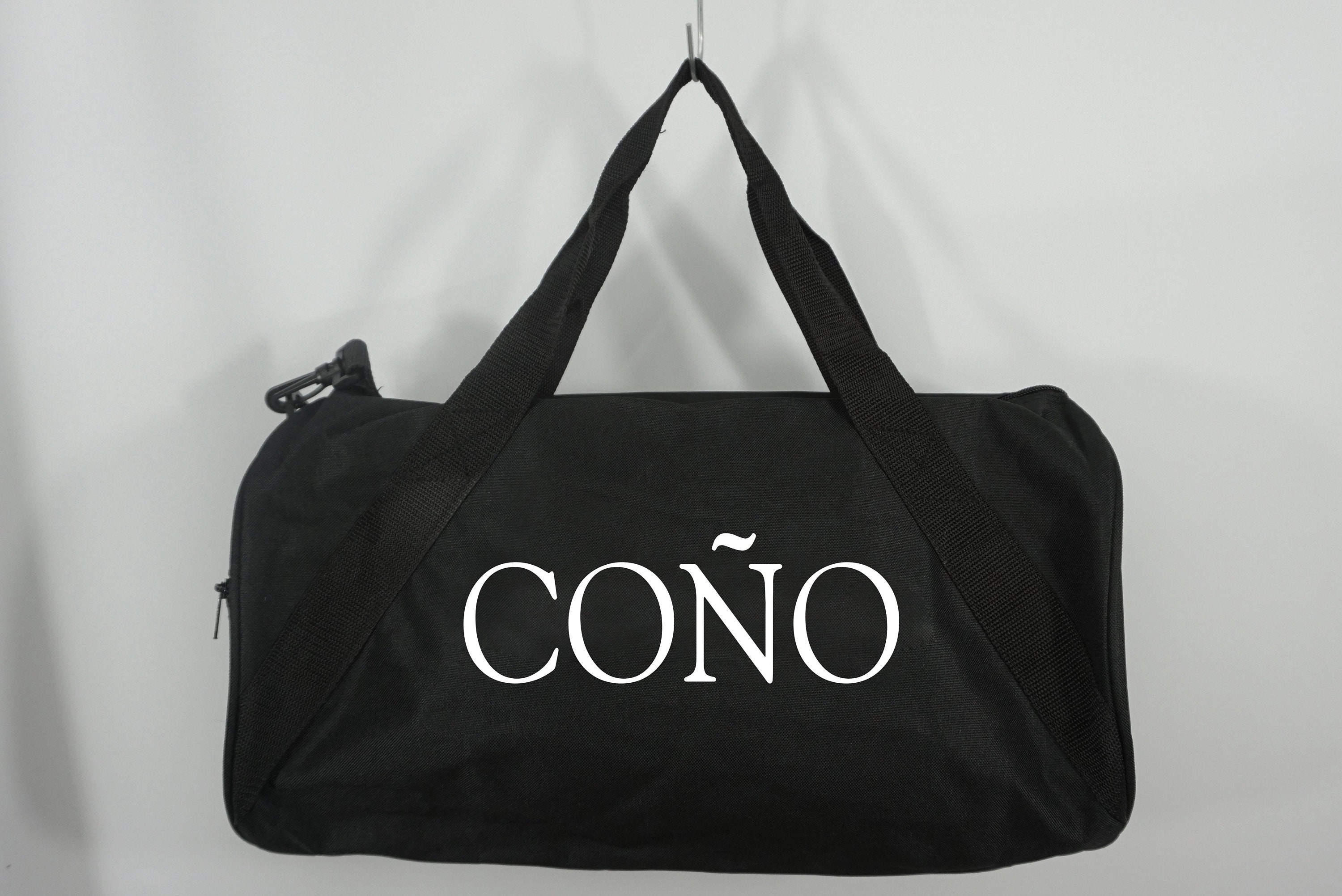 COÑO Duffle Bag Black Duffel Bag Weekend Travel Bag Custom   Etsy 497909ce4a