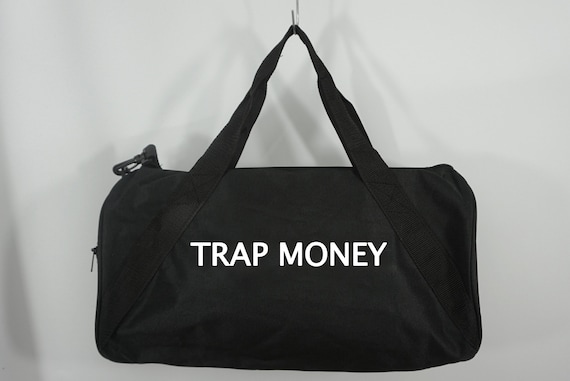 Trap Money Duffle Bag Black Duffel Bag Weekender Bag Travel   Etsy 9906486333