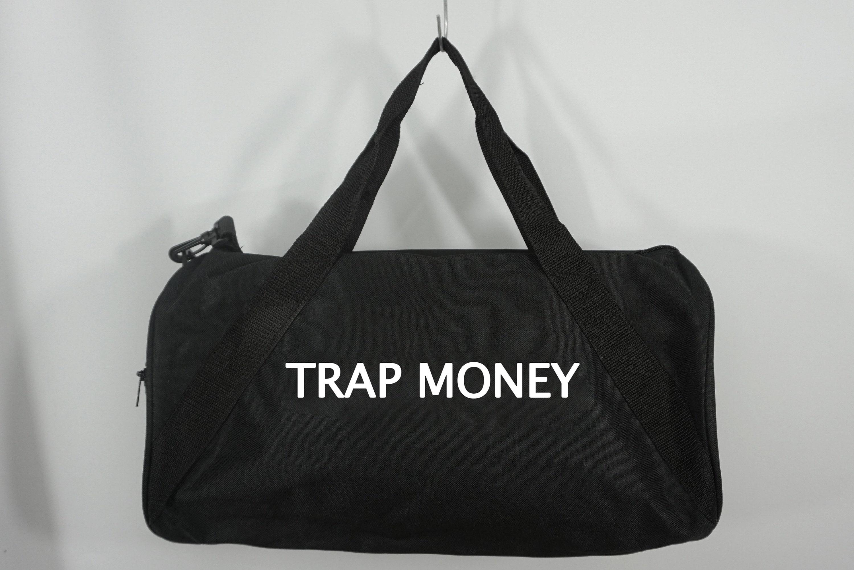 3b7ff1465 Trap Money Duffle Bag Black Duffel Bag Weekender Bag Travel   Etsy