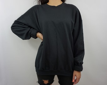 12 Unisex Crewneck Sweaters, Black Sweater, Mens Sweater, Womens Sweater By GAG Threads