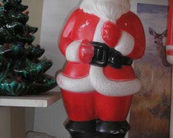 blow mold santa christmas blow mold lighted santa blow mold christmas decoration 22 tall