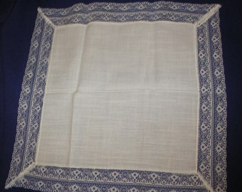 Hanky Hankerchief One White Lace Cotton Hanky