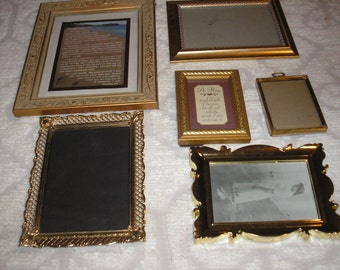 Lot 6 Gold Tone Picture Frames