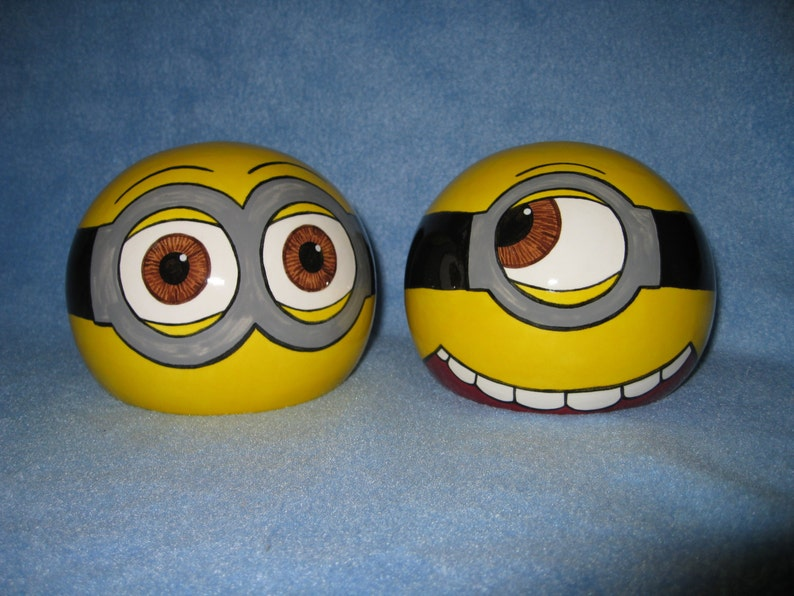 Made to Order and Customizable Yellow Minion Ceramic Tilted Bowl