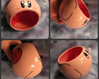 Kirby Ceramic Tilted Bowl (Made to Order and Customizable)