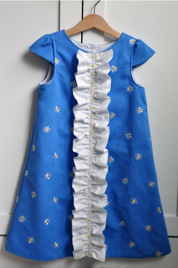 Ruffled Chemise For Girls Pdf Sewing Pattern E Pattern Etsy