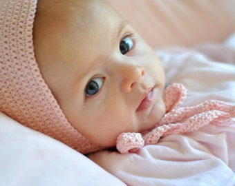 Baby Blessing Bonnet Crochet Pattern 3 months (INSTANT PDF DOWNLOAD)