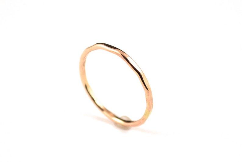 Skinny gold filled ring   stacking gold ring   14k gold image 0