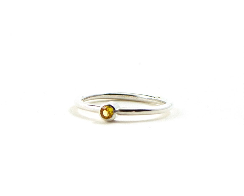 Skinny stacking rings  birthstone jewelry  stackable image 0
