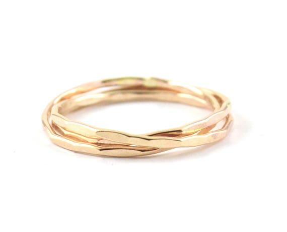 Russische Hochzeit Ring Ring Gold Gefullt Rollen Ring Etsy