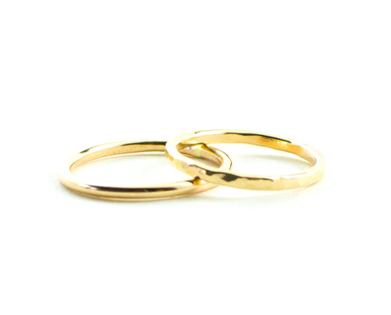 Simple gold filled ring  simple wedding band  plain gold image 0