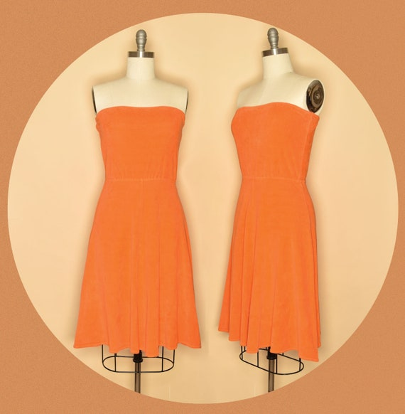 Vintage 1970s Catalina Terry Cloth Strapless Resor